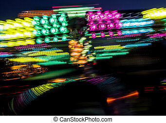 Carnival midway lights
