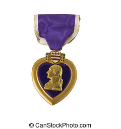 Purple Heart - A Purple Heart, awarded for wounded in action...