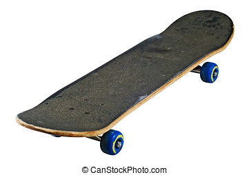 Skateboard isolated with clipping path - Teenagers fine ride...