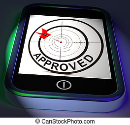 Approved Smartphone Displays Accepted Authorised Or Endorsed...