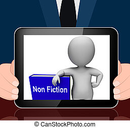 Non Fiction Book And Character Displays Educational Text Or...