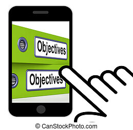 Objectives Folders Displays Business Goals And Targets