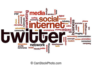 Twitter word cloud - Twitter concept word cloud background