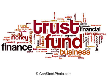 Trust fund word cloud
