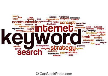 Keyword word cloud - Keyword concept word cloud background