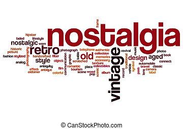 Nostalgia word cloud