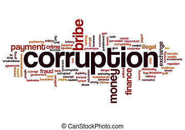 Corruption word cloud - Corruption concept word cloud...