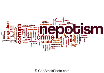 Nepotism word cloud - Nepotism concept word cloud background