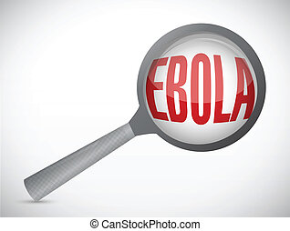 ebola magnify research illustration design over a white...