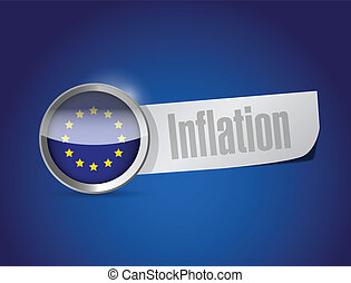 european union inflation illustration design