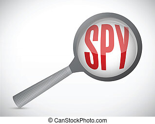 spy magnify illustration design over a white background