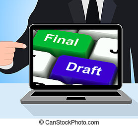 Final Draft Keys Displays Editing And Rewriting Document -...