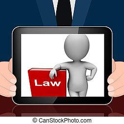 lei, livro, e, personagem, monitores, LIVROS,...