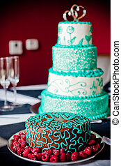 Gourmet Cakes - Beautifully decorated cakes bathed in window...