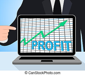 Profit Chart Graph Displays Increase Cash Wealth Revenue -...