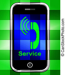 Service  On Phone Displays Call For Help