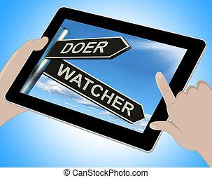 Doer Watcher Tablet Means Active Or Observer - Doer Watcher...