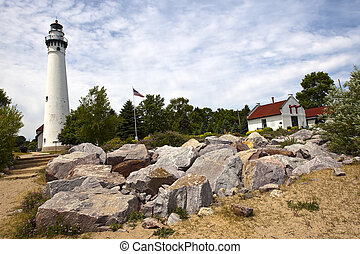 Wind Point Lighthouse or Windpoint Light Station is a...