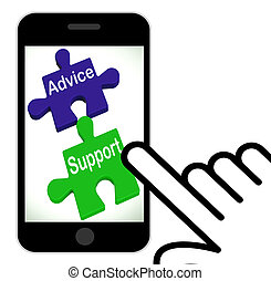 Advice Support Puzzle Displays Help Assistance And FAQ -...