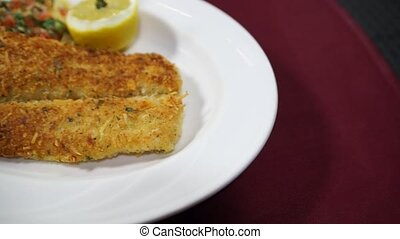 Fillet of Sole Parmigiano - Tender fillet of sole sauteed...