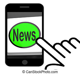 News Button Displays Newsletter Broadcast Online - News...