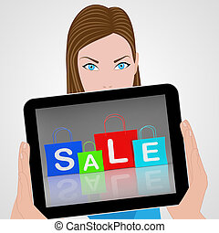 Sale Bags Displays Retail Buying and Shopping