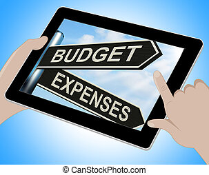 Budget Expenses Tablet Means Business Accounting And Balance