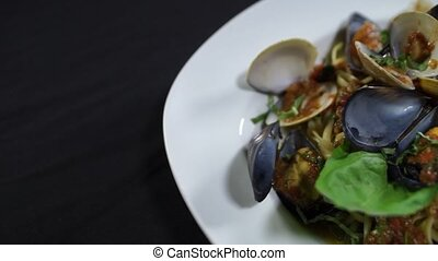 Mussels and Pasta - Seafood Dish - Enjoy this delicious...