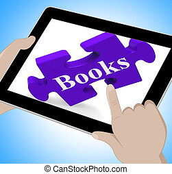 Books Tablet Means E-Book Or Reading App - Books Tablet...