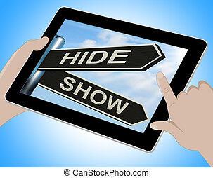 Hide Show Tablet Means Obscured And Visible - Hide Show...