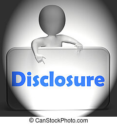 Disclosure Sign Displays Announcement Admission On...