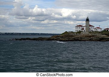 Beavertail Light, Jamestown, Conanicut Island RI, USA,...