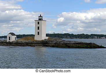Dutch Island Light, Narraganset Bay RI, USAus