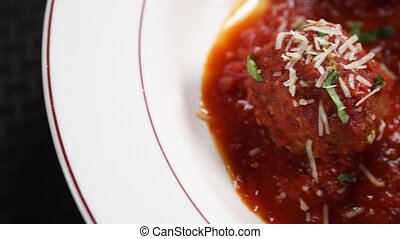 Meatballs, Marinara Sauce - Meatballs covered with marinara...