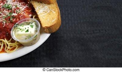 Chicken Parmesan, Toast - Chicken Parmesan served with...
