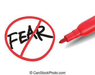 no fear word with a red marker