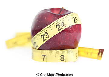 Perfect Waist -- Slimming, Dieting, Healthy Eating Concept...