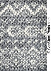 Knit fabric background - Closeup of knit fabric background...