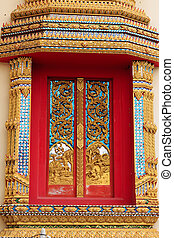 Beautiful Thai Temple Windows