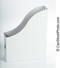 Folder White color box for keep your document.