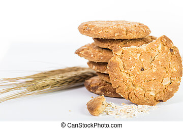 Oatmeal cook isolated with whie background