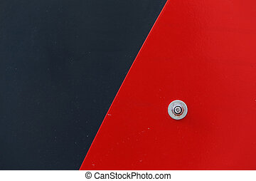 Background of black and red metal