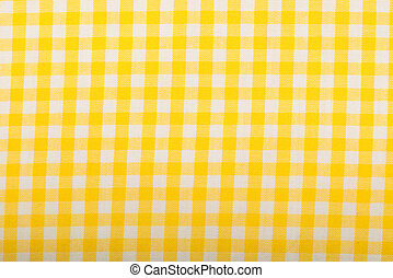 Cotton fabric texture yellow plaid