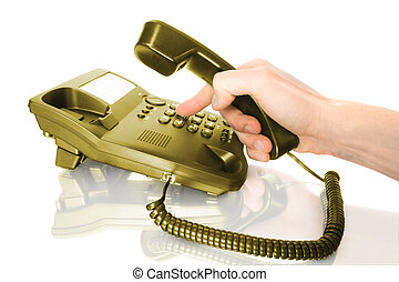 concepts, dialing on telephone