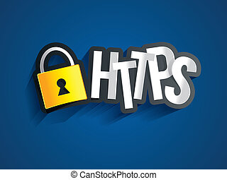Creative Abstract https On Blue Background vector...