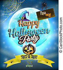 Happy Halloween party Poster. EPS 10 vector file included