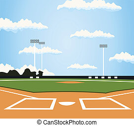 Baseball - Field for baseball. A vector illustration