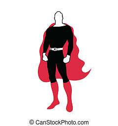 Hero in a raincoat - Character the super hero. A vector...