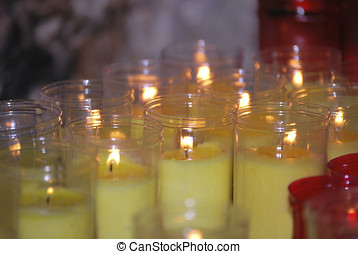 Candles in the chirch - Various candles in the church....