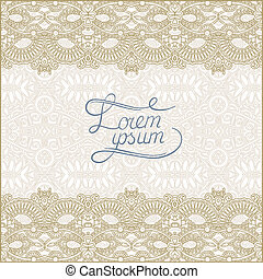 floral decorative pattern with place for your text, line...